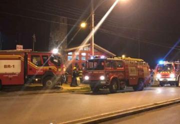 Principio de incendio en cuartel de Bomberos en Angol