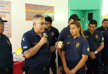 Benemérito Cuerpo de Bomberos de Nindirí celebra 8 años de servicio
