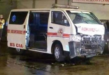 Bomberos Voluntarios pierden ambulancia a causa de conductor ebrio
