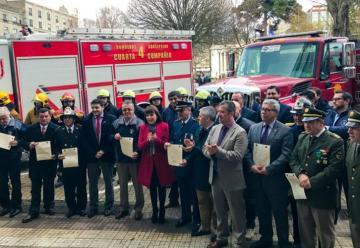 Bomberos de Concepción reciben $196 millones por los incendios forestales