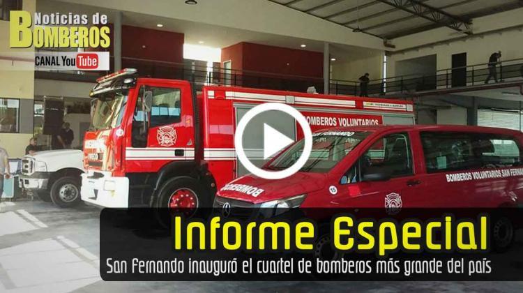 San Fernando inauguró el cuartel de bomberos más grande del país