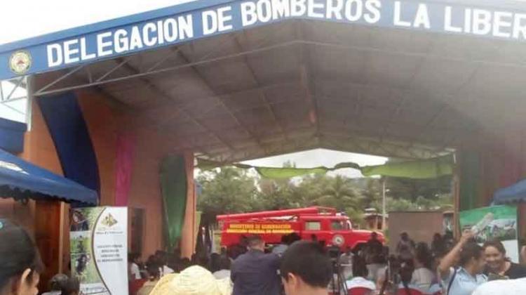 Inauguran estación de bomberos en el municipio de la Libertad