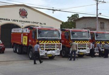 Nuevos carros bombas para los Bomberos de Guayaquil
