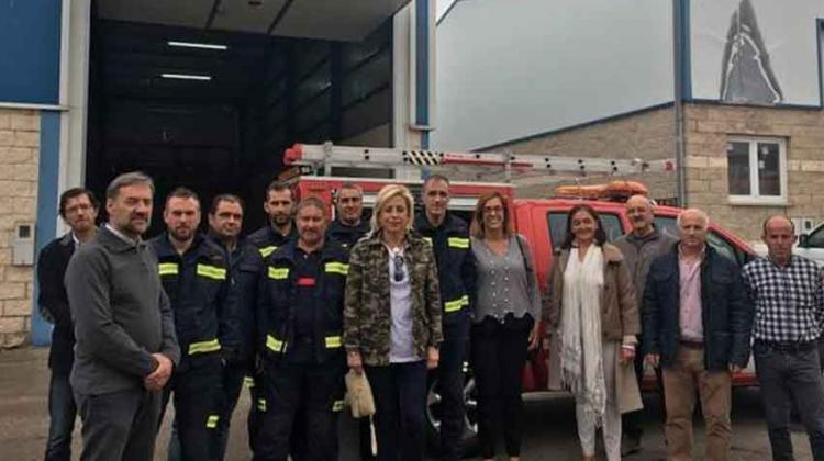 Dos camiones para los parques de bomberos de Palencia