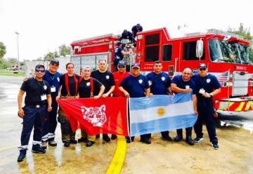 Los bomberos se capacitaron en Estados Unidos