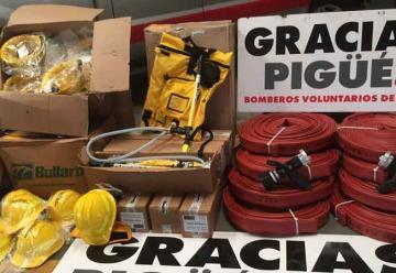 Bomberos Voluntarios de Pïgüé presentaron nuevo equipamiento