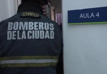 Un simulacro de incendio se volvió real y los bomberos apagaron el fuego
