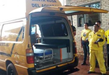 Donan ambulancia a bomberos de San Pedro