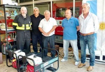 Bomberos Voluntarios incorporó dos nuevos grupos electrógenos