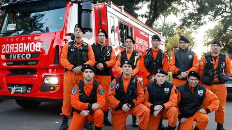 Nuevos egresados del Grupo Especial de Rescate de Bomberos