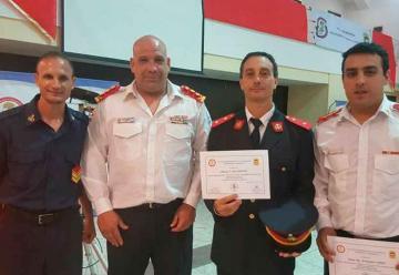 Bomberos de Berisso cuentan con cinco nuevos Instructores Provinciales