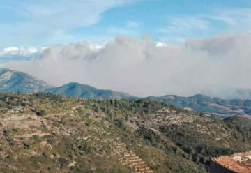 Un bombero herido en un incendio forestal en Culla
