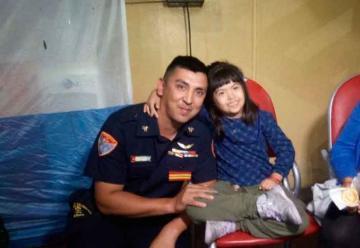 Bombero héroe salvó a nena con síndrome de Down