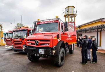 Tres nuevos camiones para los bomberos de Badajoz