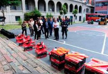 Bomberos recibió elementos para incendios forestales y rescate