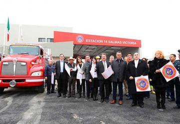 Inauguran nueva estación de Bomberos en Salinas Victoria