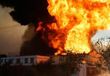 Se incendió un depósito en Parque Industrial