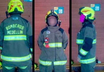 Roban costoso traje de Bomberos de Medellín