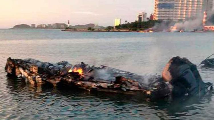 Incendio en Margarita dejó 20 embarcaciones quemadas
