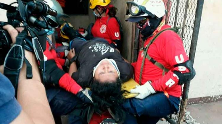 Bomberos de Managua activan grupo USAR en práctica de rescate