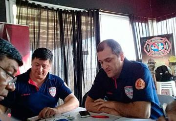 Se desarrolló reunión de Bomberos y autoridades del CUO