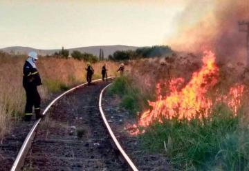 Tres bomberos heridos en incendio en Sierra de la Ventana