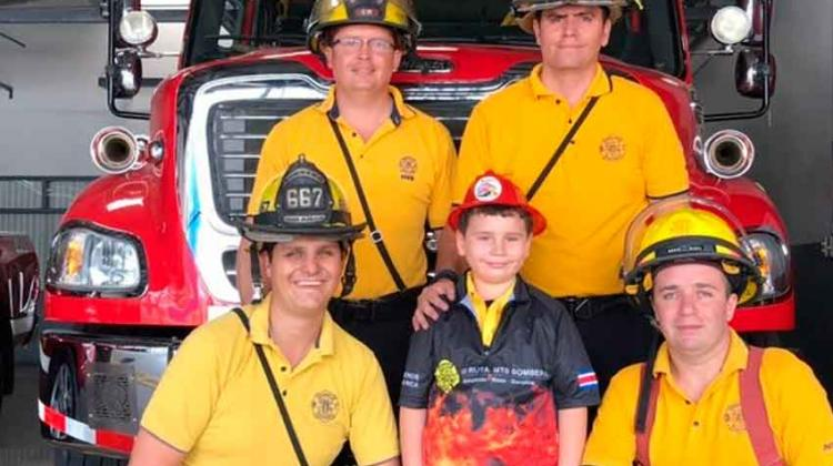«Rafita» cumplió su sueño de ser bombero