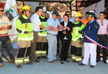 Bomberos de San Esteban inaugura su futuro cuartel