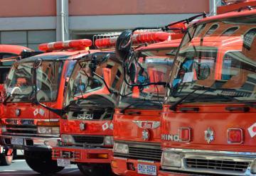 Bomberos recibió de Japón ocho vehículos