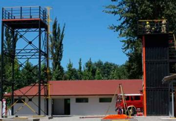 Bomberos de Rancagua inaugura centro de entrenamiento