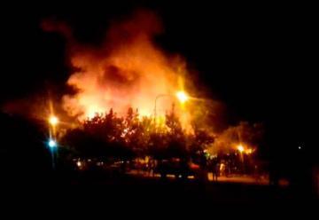 Se incendió una planta conservera en Luján de Cuyo