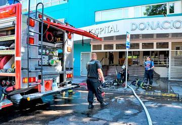 Evacuaron el Hospital Santojanni por un principio de incendio