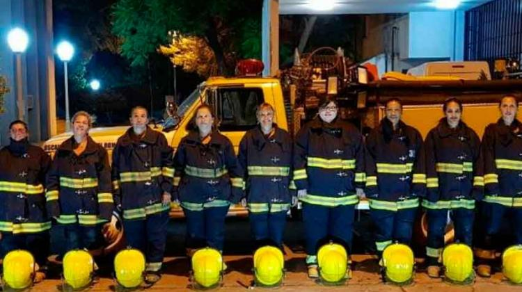 2 de cada 10 bomberos voluntarios son mujeres en Cordoba