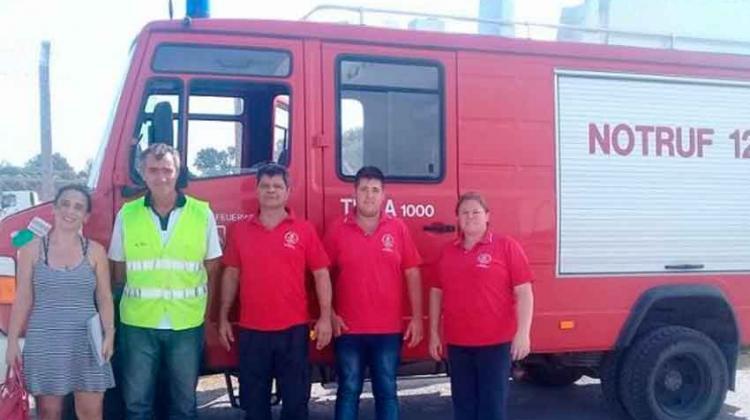 Nueva unidad para Bomberos Voluntarios de Hernández