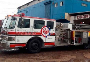 Bomberos del Rosario prestaron una unidad a Bomberos de San Quintín