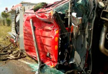 Accidente de máquina de bomberos en Sabanalarga