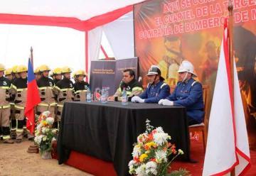 Tercera Compañía de Bomberos de Machalí recibe terreno para cuartel
