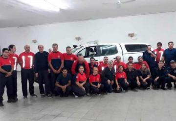Bomberos Voluntarios presentó la nueva camioneta 0 Km