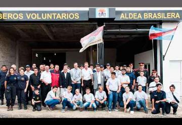 Bomberos Voluntarios de Aldea Brasilera festejaron 25 años