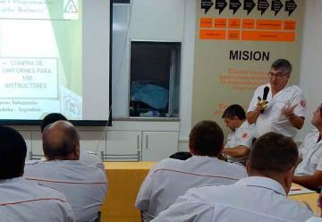 Apertura a las Reuniones Mensuales de la Federación Bomberos de Córdoba