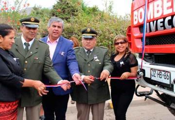 Bomberos de Marquesa en Vicuña ya cuentan con carro bomba