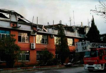 Incendio en la sede central de los Bomberos en Cerdanyola