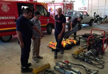 Bomberos de Luján de Cuyo se especializan en rescate