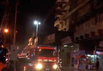 Bomberos realizó simulacro de incendio en edificio