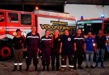 Autoridad del Consejo Nacional de Bomberos Voluntarios visitó Paraná