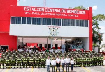 4 millones de pesos en equipo para los bomberos de Cancún