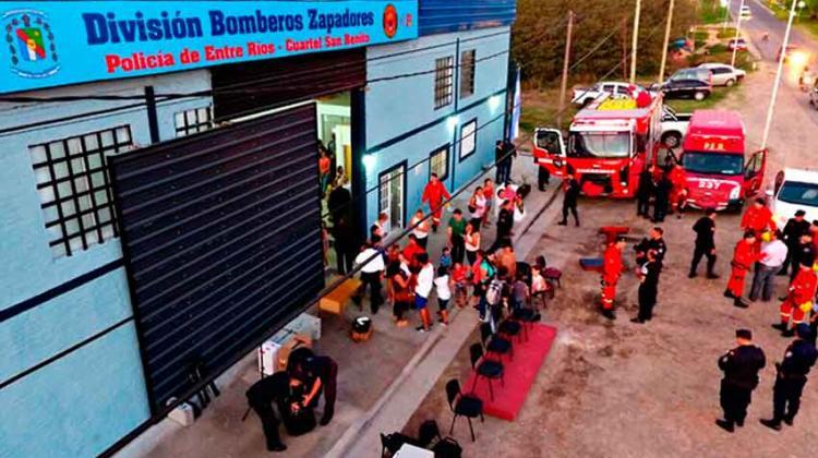 Inauguraron cuartel de Bomberos Zapadores en San Benito