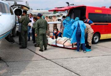 Trasladan a México a tres bomberos hondureños heridos
