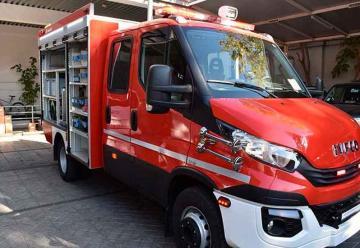 Bomberos de Coquimbo reciben Carro de Primera Intervención