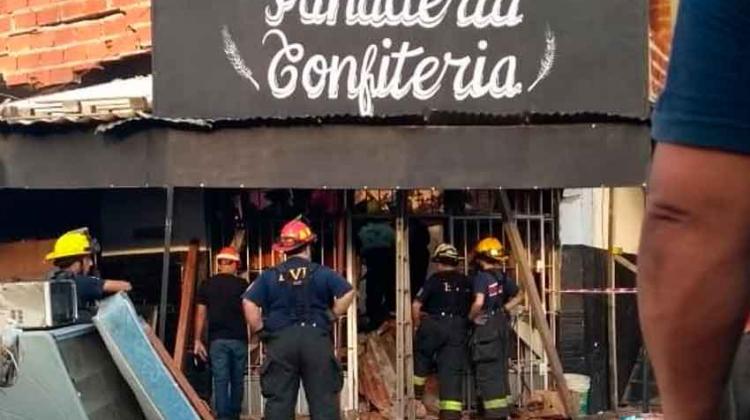 Incendio, explosión y derrumbe en Monte Chingolo